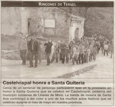 Castelvispal celebró Santa Quiteria